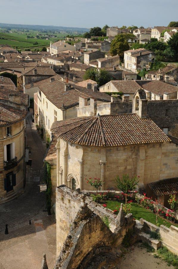 San Emilion in Aquitaine fotografia stock libera da diritti