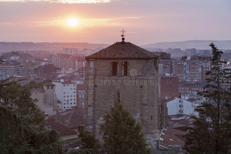 San Esteban Church en Burgos foto de archivo libre de regalías
