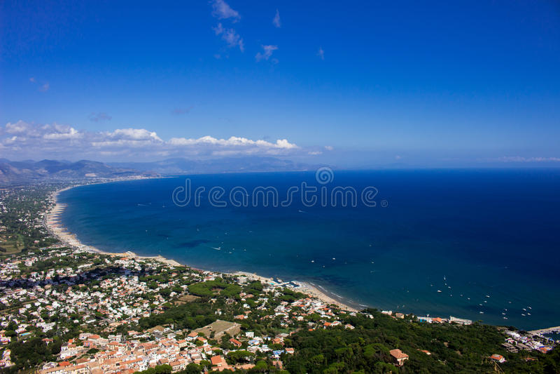 San Felice Circeo Coast image stock