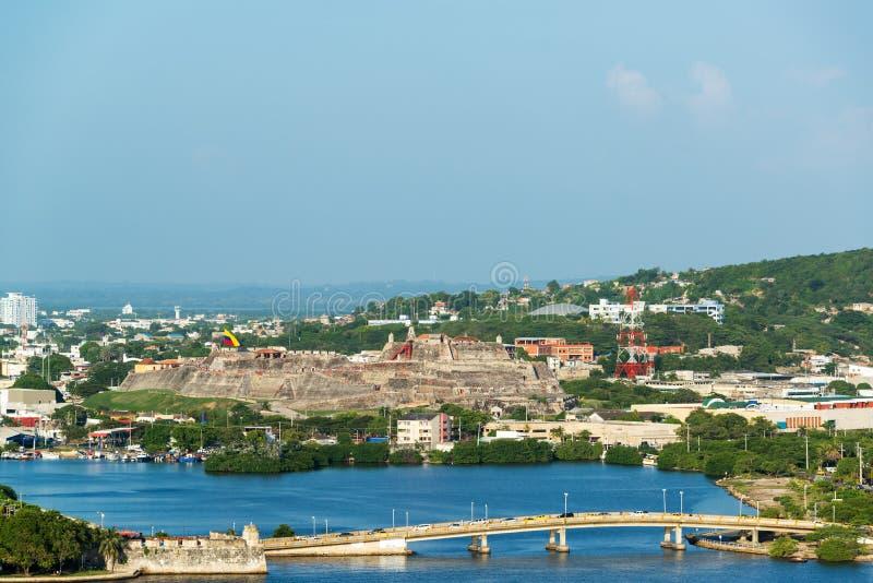 San Felipe Castle in Cartagena royalty free stock images