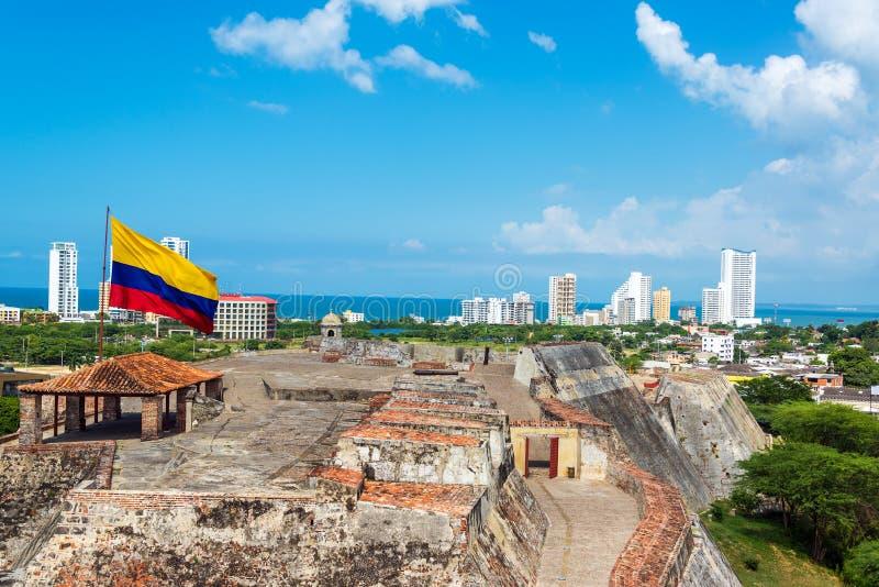 San Felipe Castle och horisont arkivbild