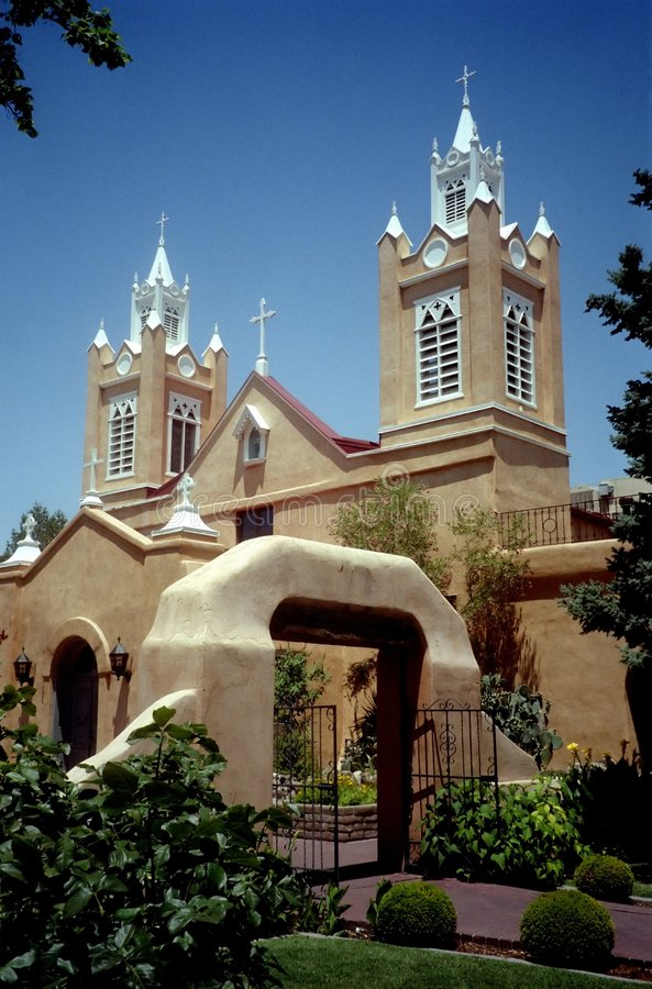San Felipe Church-New Mexico stock photos