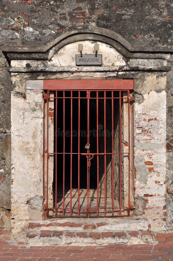San Felipe de Barajas Castle - Cartagena Colombia royaltyfria bilder