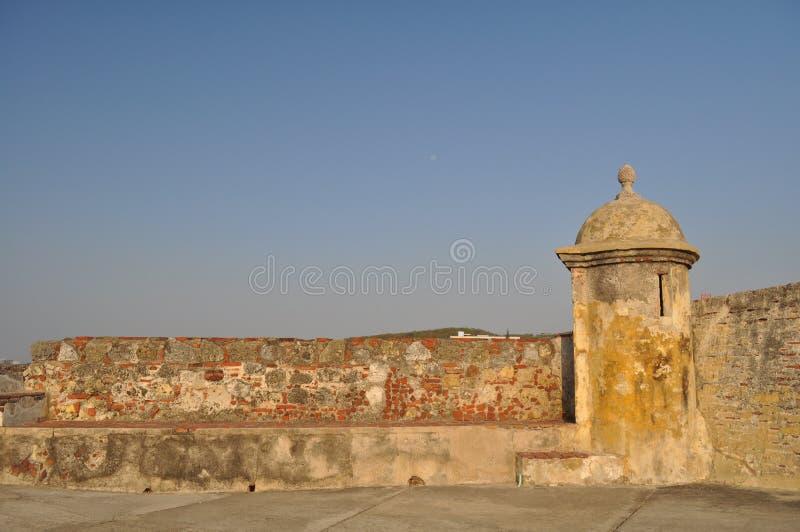 San Felipe de Barajas Castle - Cartagena Colombia fotografering för bildbyråer