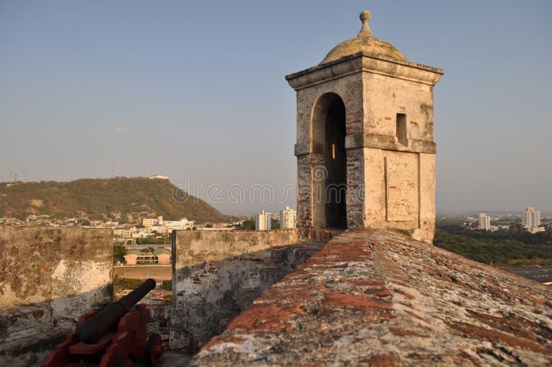 San Felipe de Barajas Castle - Cartagena Colombia royaltyfri fotografi