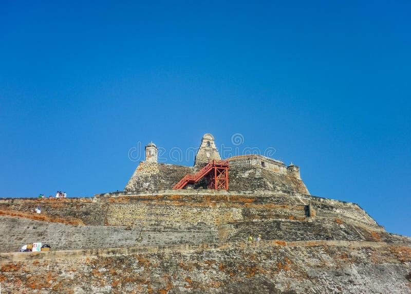 San Felipe de Barajas fästning Cartagena Colombia royaltyfri foto