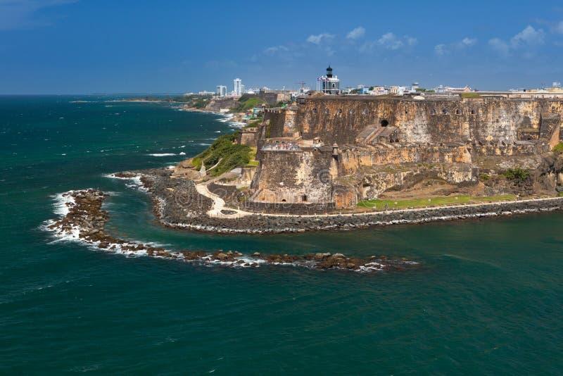 San Felipe del Morro Fortress, San Juan viejo, Puerto Rico fotografía de archivo libre de regalías