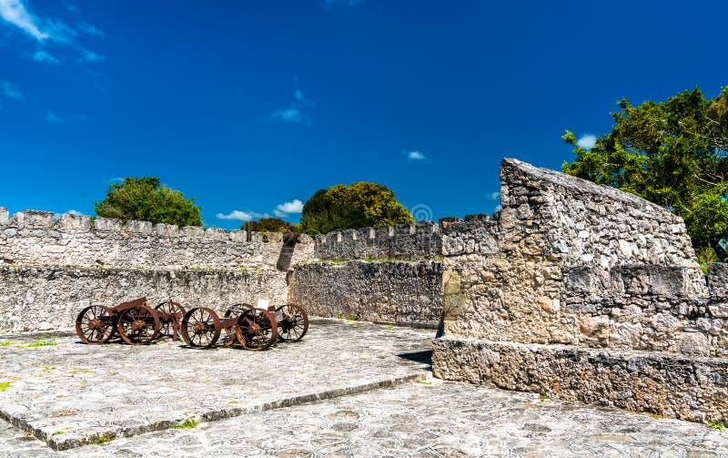 San Felipe Fort in Bacalar, Mexico stock foto's