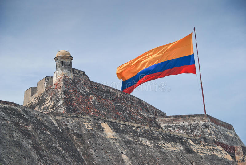 San Felipe fortification in Cartagena royalty free stock image