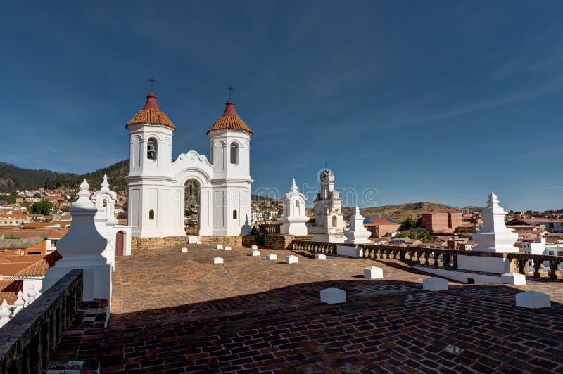 San Felipe Neri kloster i Sucre Bolivia royaltyfri bild
