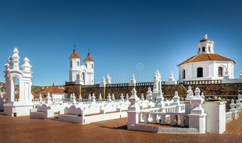 San Felipe Neri Monastery Terrace - Sucre, Bolivia fotos de archivo