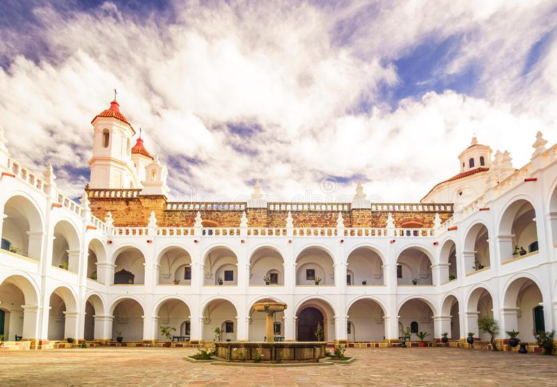San Felipe Neri in Sucre Bolivia. View on San Felipe Neri in Sucre Bolivia royalty free stock photography