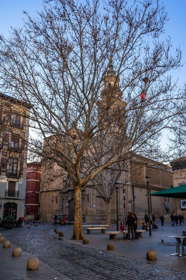 San Felipe y Santiago el Menor kościół w Zaragoza, Hiszpania fotografia royalty free