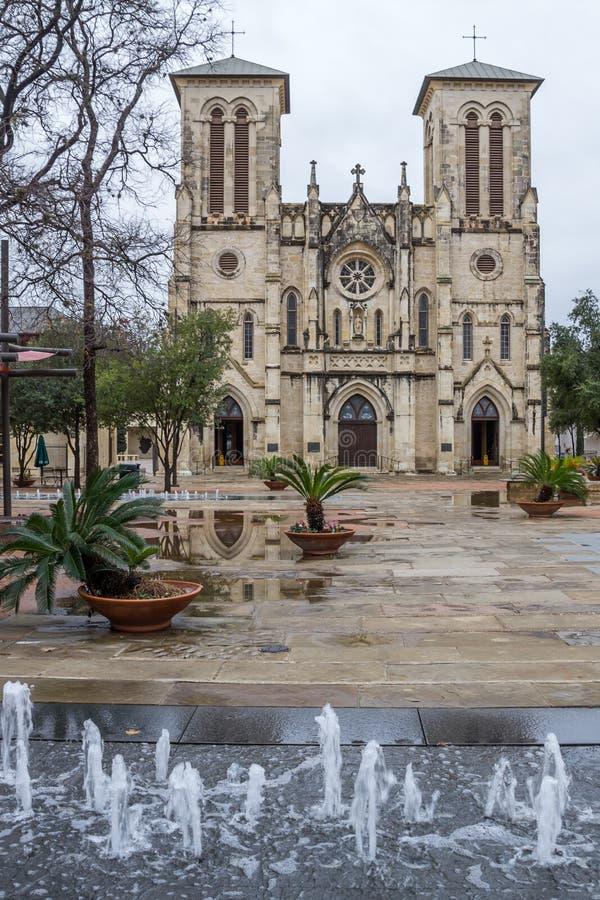 San Fernando Cathedral, San Antonio, Texas royalty-vrije stock afbeelding