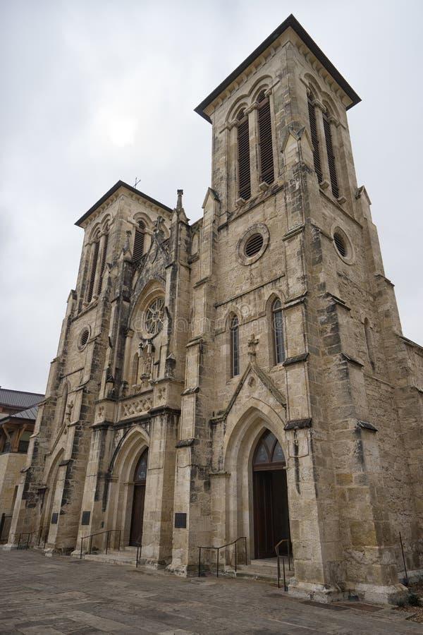 San Fernando Cathedral en San Antonio Texas imágenes de archivo libres de regalías