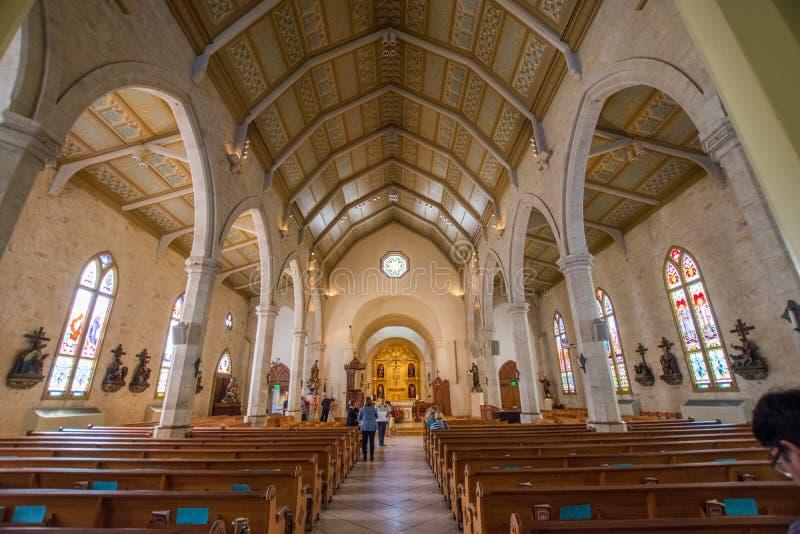 San Fernando Cathedral in Hoofdplein naast Riviergang in San A royalty-vrije stock foto