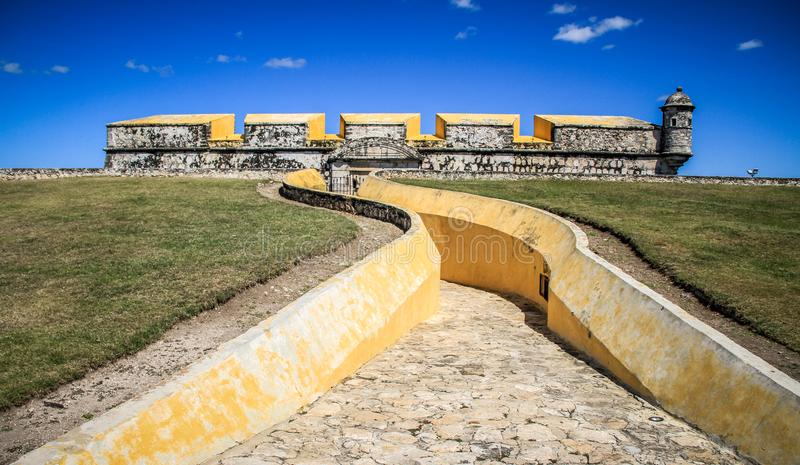 San Fernando Fort, Campeche City, Campeche, Mexico. San Francisco de Campeche is a city in Campeche Municipality in the state of Campeche. Located on the shore stock photos
