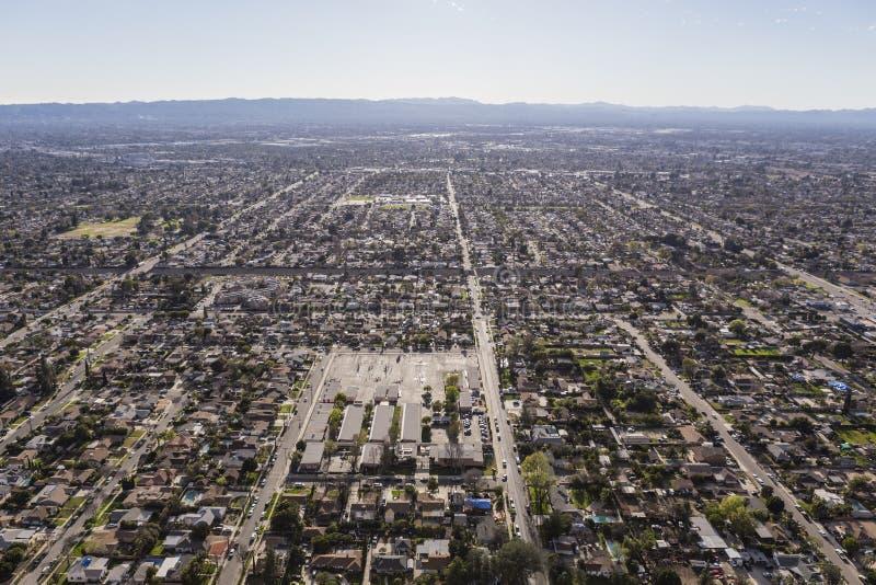 San Fernando Valley Afternoon Haze Aerial imagens de stock royalty free