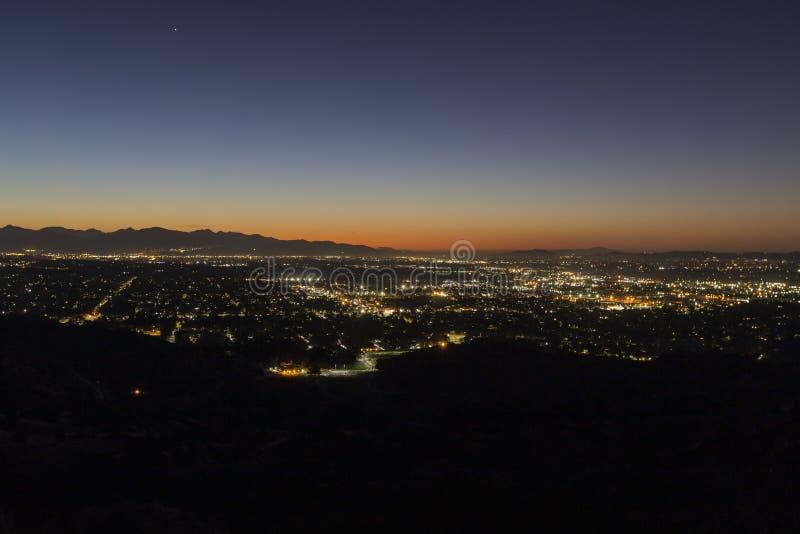 San Fernando Valley Los Angeles Dawn royalty free stock images