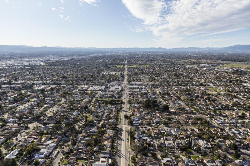 San Fernando Valley Los Angeles Sprawl Aerial royalty free stock image