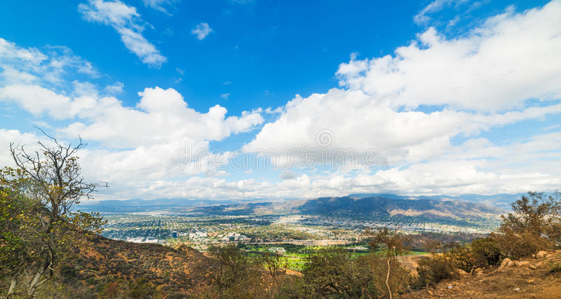 San Fernando Valley seen from Mount Lee royalty free stock photography