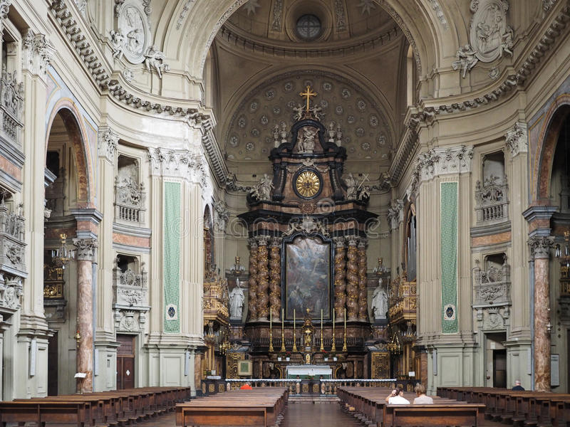 San Filippo Neri kościół w Turyn obrazy royalty free