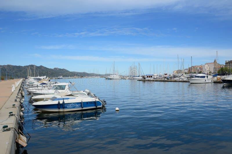 San-Florent corso del porto fotografia stock