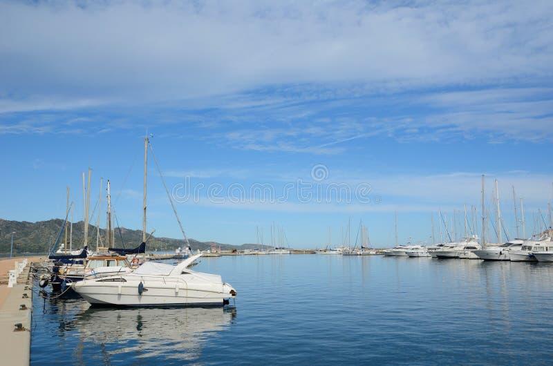 San-Florent corso del porto immagini stock