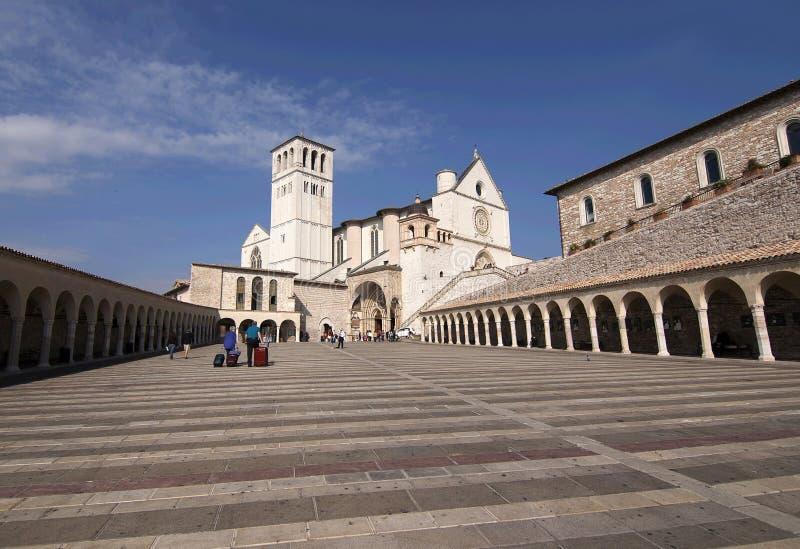 San Francesco Abbey in Assisi stock photos