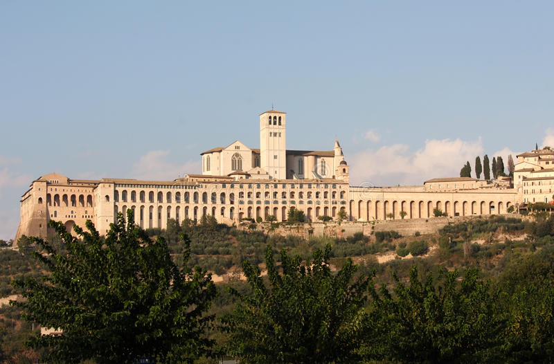 San Francesco in Assisi, Umbria, Italy. Assisi is best known as the birthplace of St. Francis of Assisi — patron saint of Italy, founder of the Franciscan stock image
