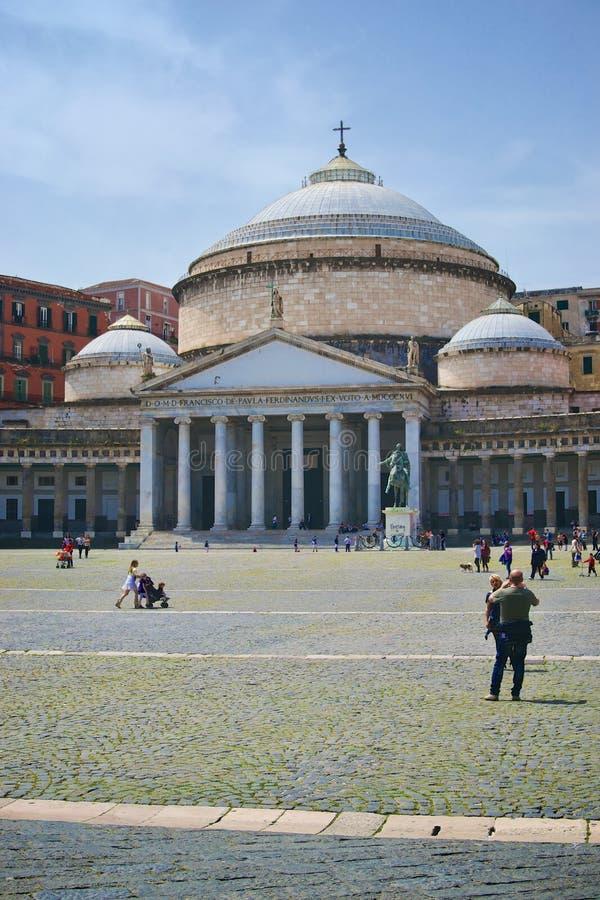 Church of San Francesco di Paola in Naples royalty free stock image