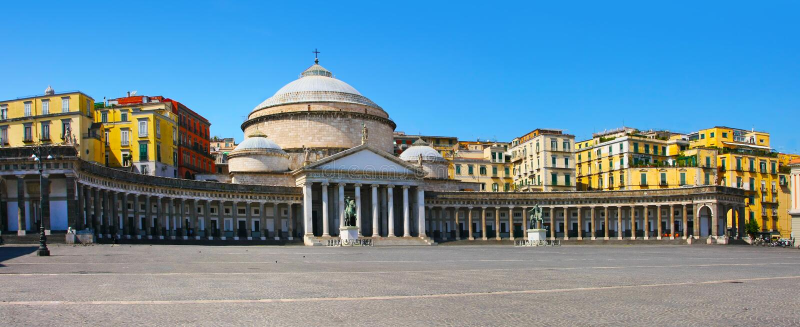San Francesco Paola , Italy, Naples royalty free stock photos
