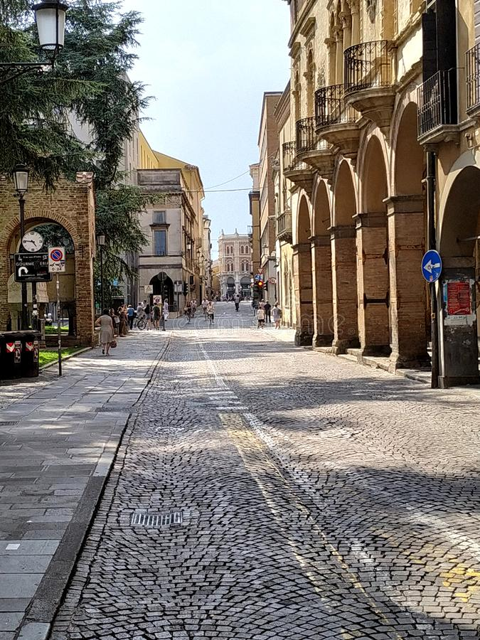 San Francis Street Italy di Padova immagine stock