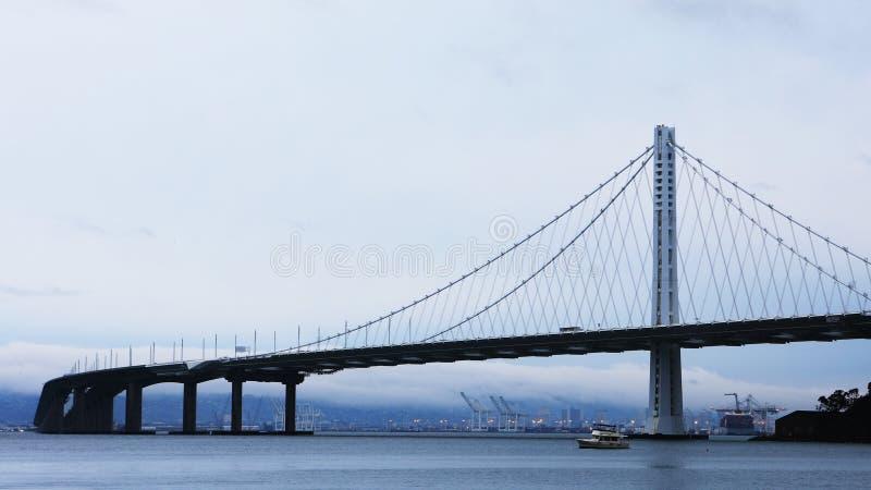 The San Francisco and Oakland Bay Bridge stock photography