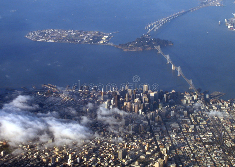 Download San Francisco aerial view stock photo. Image of airplane - 1258334