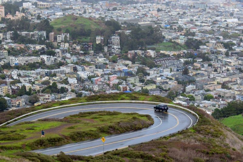 San Francisco Aerial View vom Twin Peaks stockfotografie