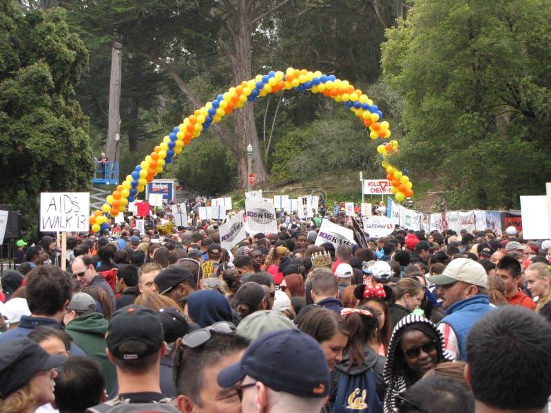San Francisco-AIDS Weg 2013 lizenzfreies stockfoto