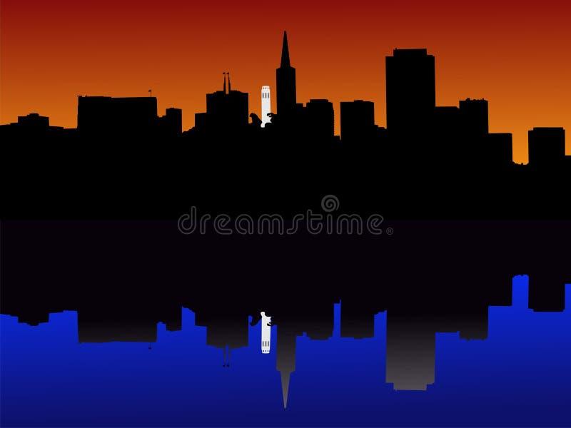 San Francisco al tramonto illustrazione vettoriale