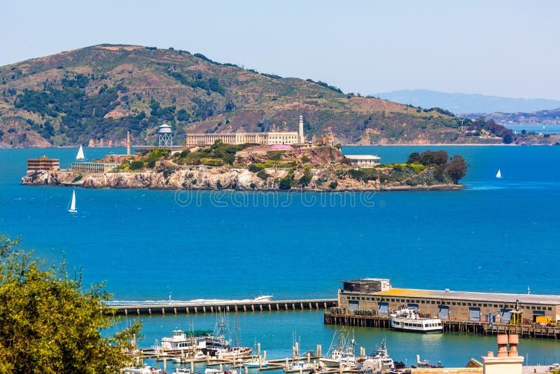 San Francisco Alcatraz Penitenciary California fotografia stock libera da diritti