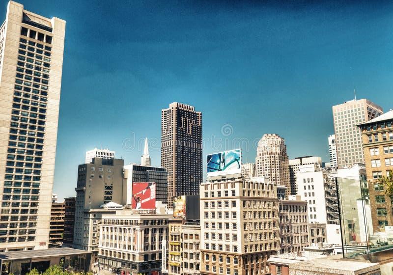 SAN FRANCISCO - 5 AOÛT 2017 : Vue aérienne de skyl d'Union Square image libre de droits