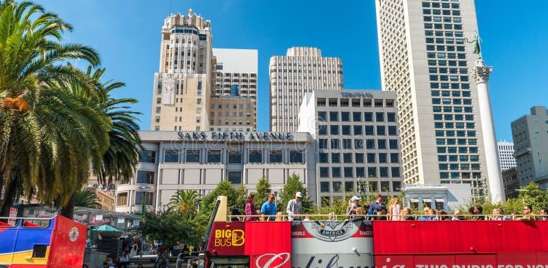 SAN FRANCISCO - 5 AOÛT 2017 : Vue aérienne de skyl d'Union Square photographie stock libre de droits