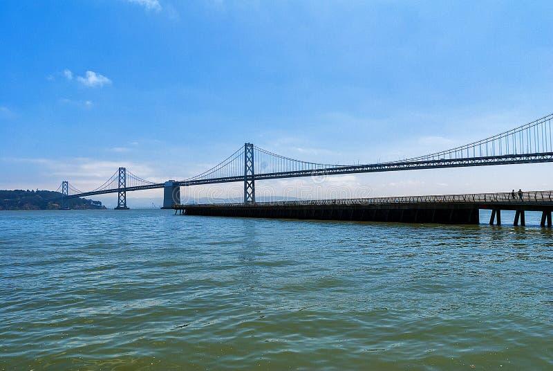 San Francisco au pont d'Oakland photographie stock libre de droits