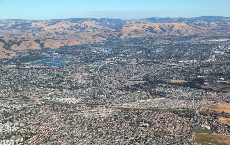 San Francisco Bay Area: Fremont City and the quarry lakes stock photos