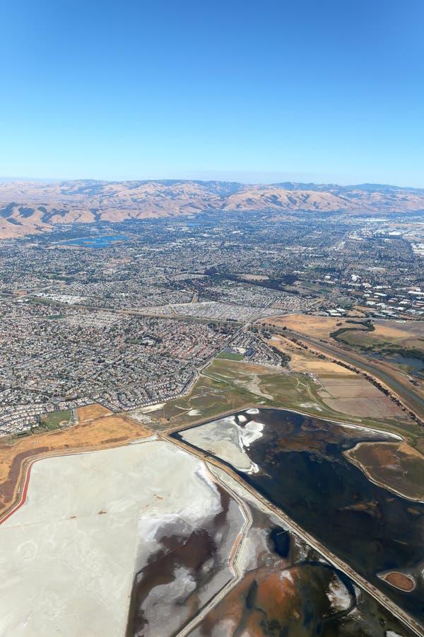 San Francisco Bay Area: Salt Marshes stock photo