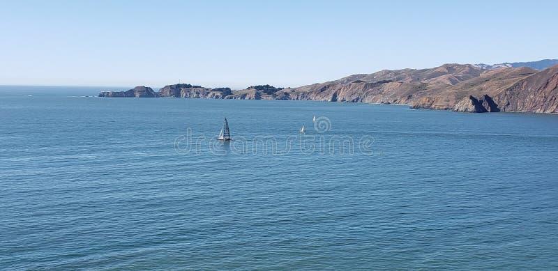San Francisco Bay Area Water Sail Boats royalty free stock photos