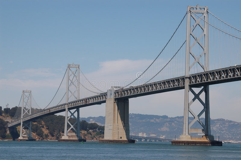 San Francisco Bay Bridge. Western span of the San Francisco Bay Bridge stock photography