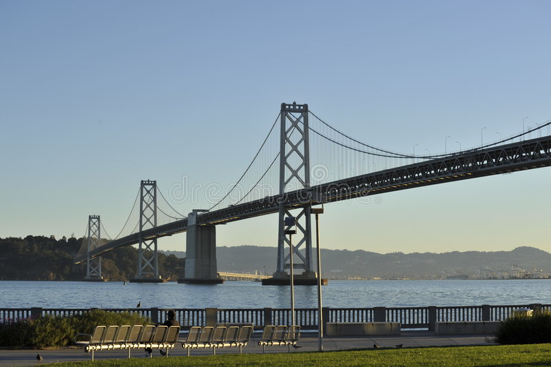San Francisco Bay Bridge and Bay stock photos