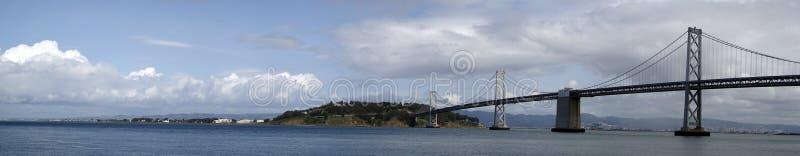 San Francisco Bay Bridge Panoramic royalty free stock photo