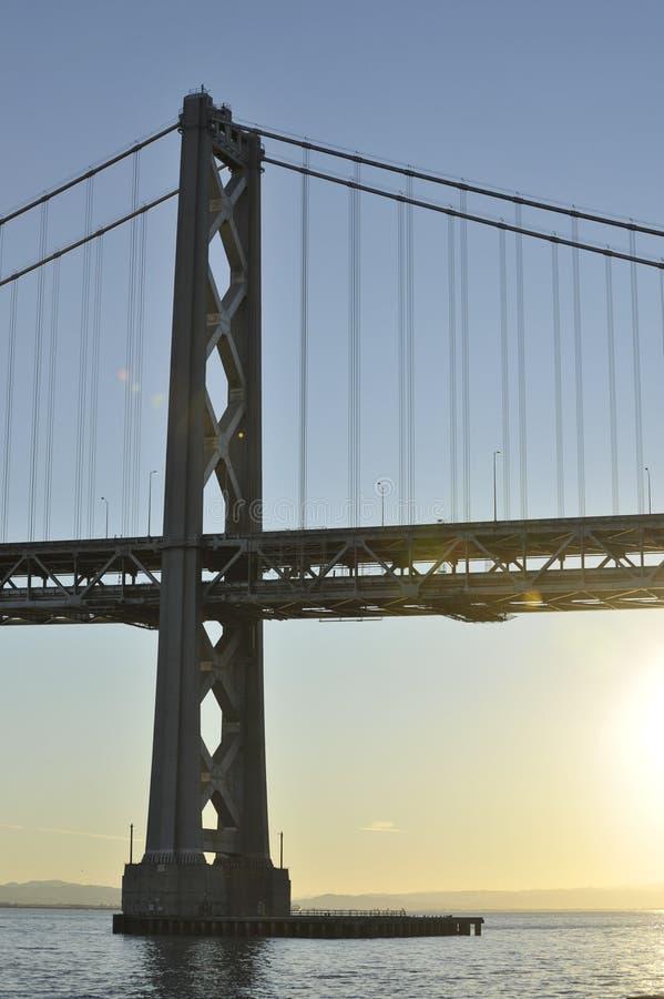 San Francisco Bay Bridge tower at Sunrise royalty free stock photos