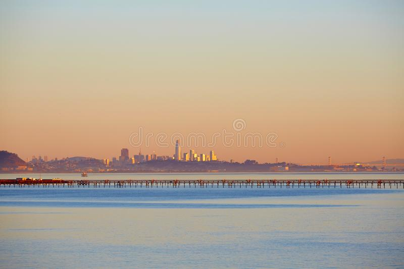 San Francisco Bay and skyline royalty free stock images